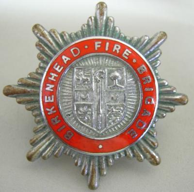 Hat Badge [Birkenhead (England) Fire Brigade]