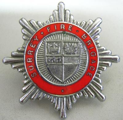 Hat Badge [Surrey Fire Brigade]