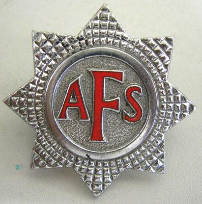 Hat Badge [Auxillary Fire Service]