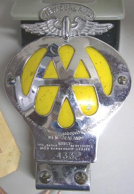 Automotive Badge [Automobile Association Marlborough New Zealand]