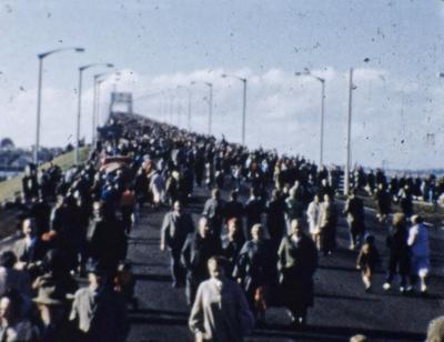 Auckland Harbour Bridge opening