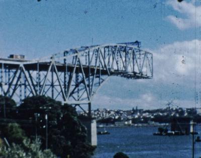 Construction Auckland Harbour Bridge