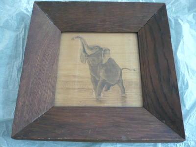 Bark painting [Elephant]
