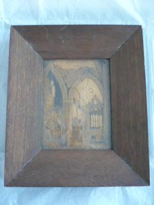 Bark painting [Church ruins]