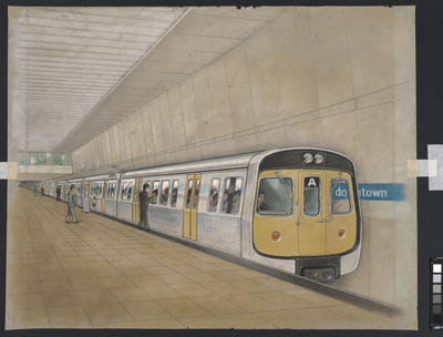 [Auckland Rapid Transit: Concept for train A and downtown station]