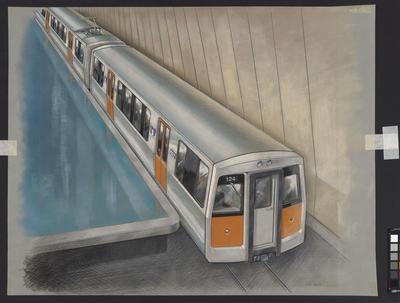 [Auckland Rapid Transit: Concept for train 124 and passenger platform]