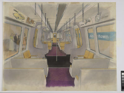 [Auckland Rapid Transit: Concept for interior of a passenger carriage]
