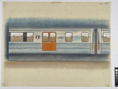 [Auckland Rapid Transit: Concept for exterior side of a passenger carriage]